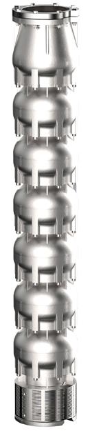 Serie WSP+ Bomba agua de pozo sumergible acero inoxidable